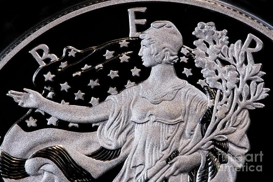 Proof Silver Eagle Dollar Coin Detail Liberty Digital Art