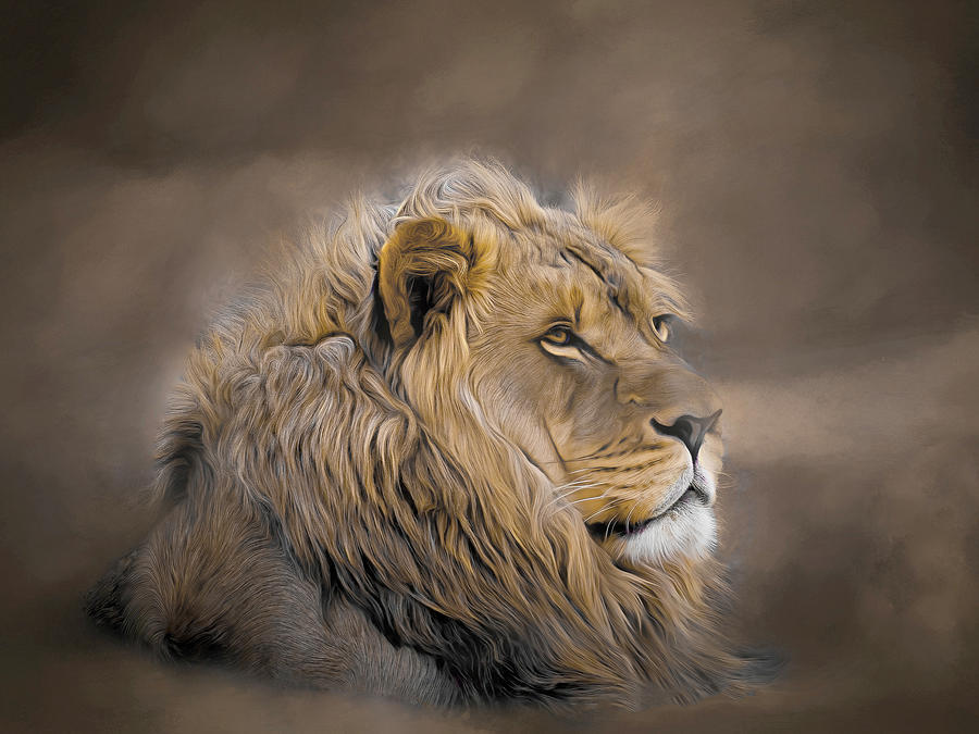 Proud Old Lion by Lowell Monke