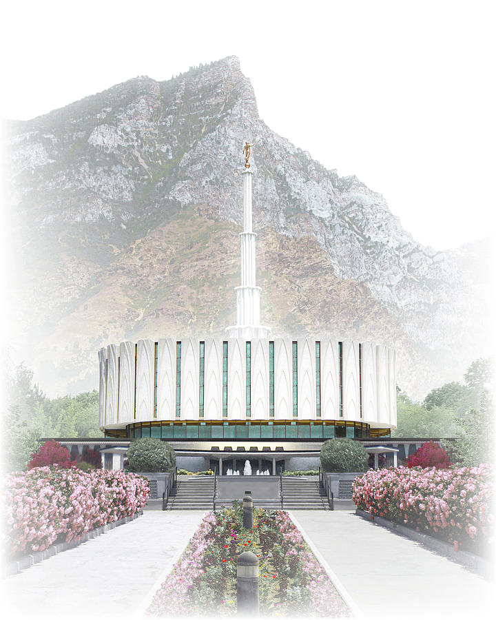Provo Digital Art - Provo Temple - Celestial Series by Brent Borup