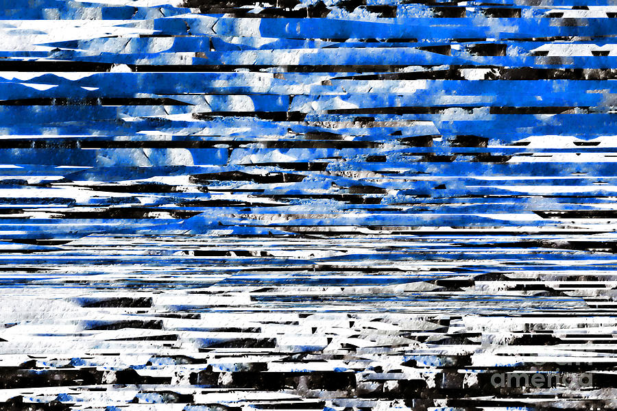 Blue Painting - Psalm 61 2. Lead Me Jesus. by Mark Lawrence