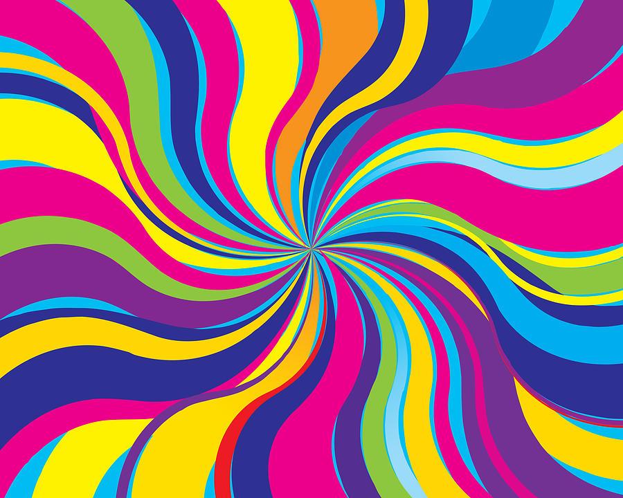 Psychedelic Twist Background Drawing by RobinOlimb