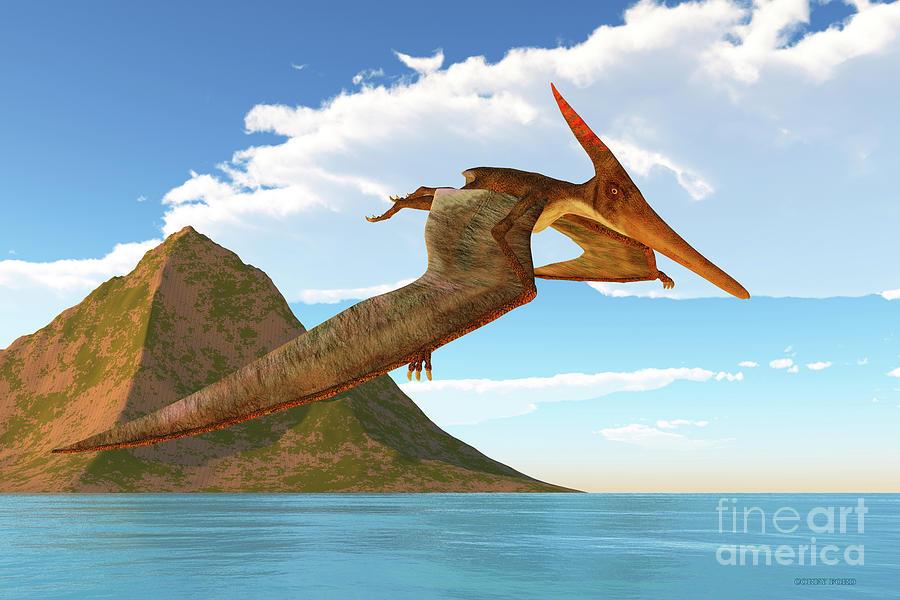 Pteranodon Afternoon Flight Digital Art