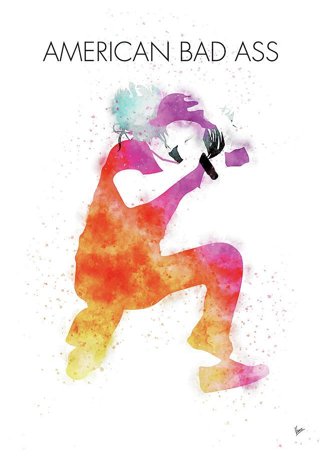Kid Digital Art - No181 MY Kid Rock Watercolor Music poster by Chungkong Art