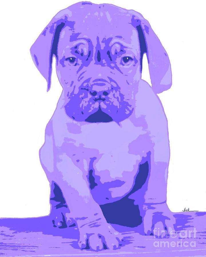Bulldog Painting - Pudge by Jack Bunds