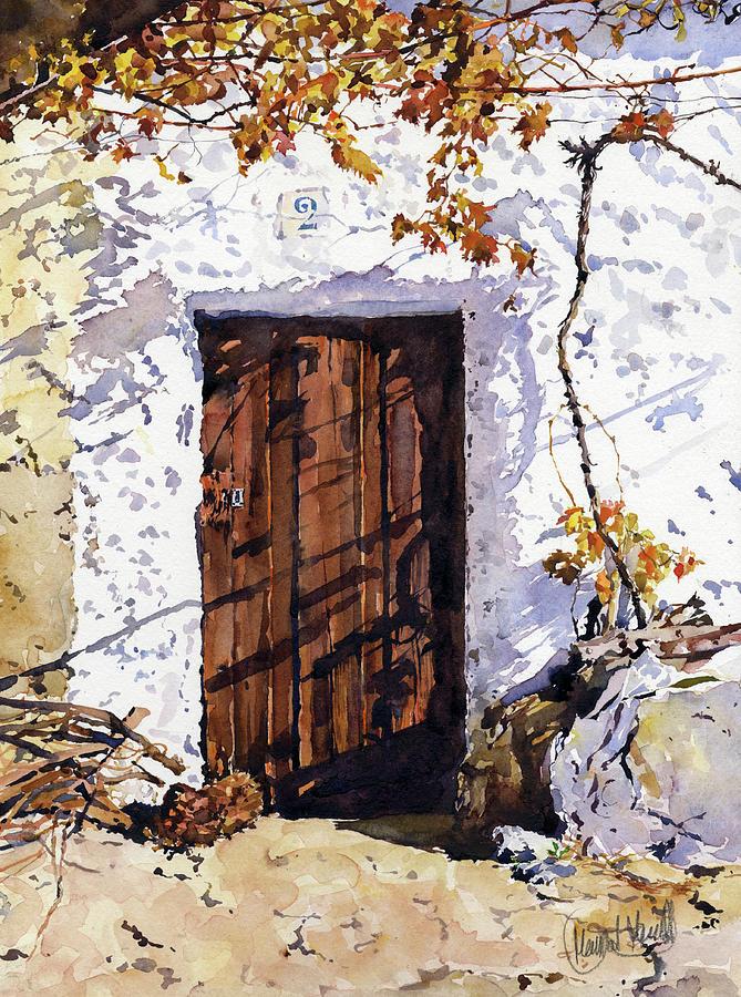 Door Painting - Puerta Rustica by Margaret Merry