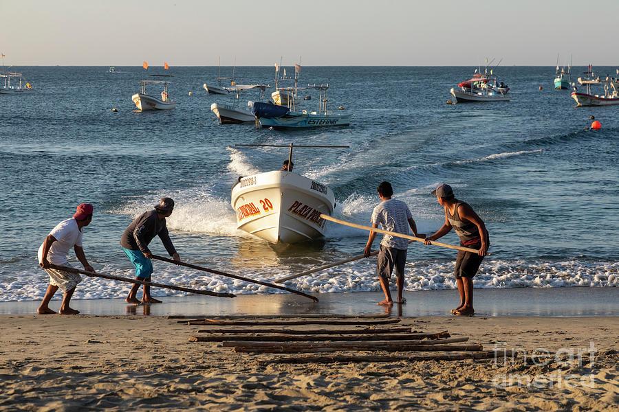 Puerto Escondido Fishing Boat Photograph