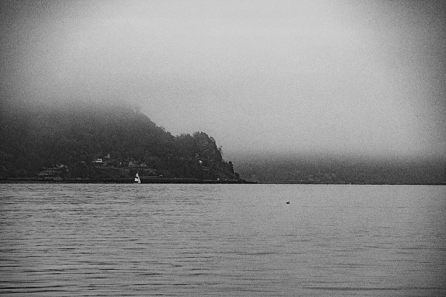 Puget Sound near Tacoma black and white102020 2 10242020  Photograph by David Frederick