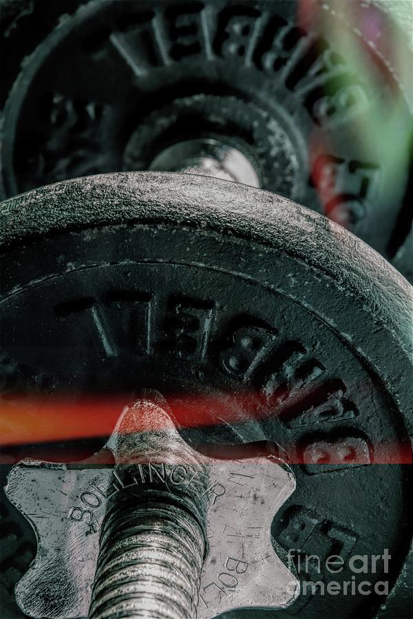 Iron Digital Art - Pumping Iron - Grunge by Chris Mautz