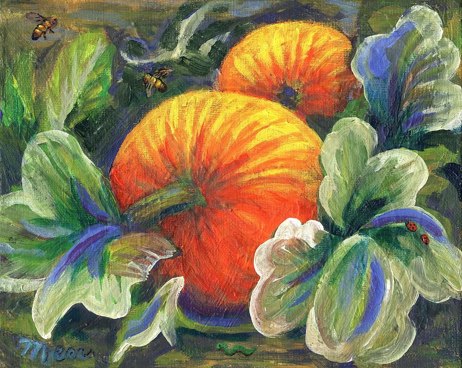 Pumpkin Painting - Pumpkin Patch by Linda Mears