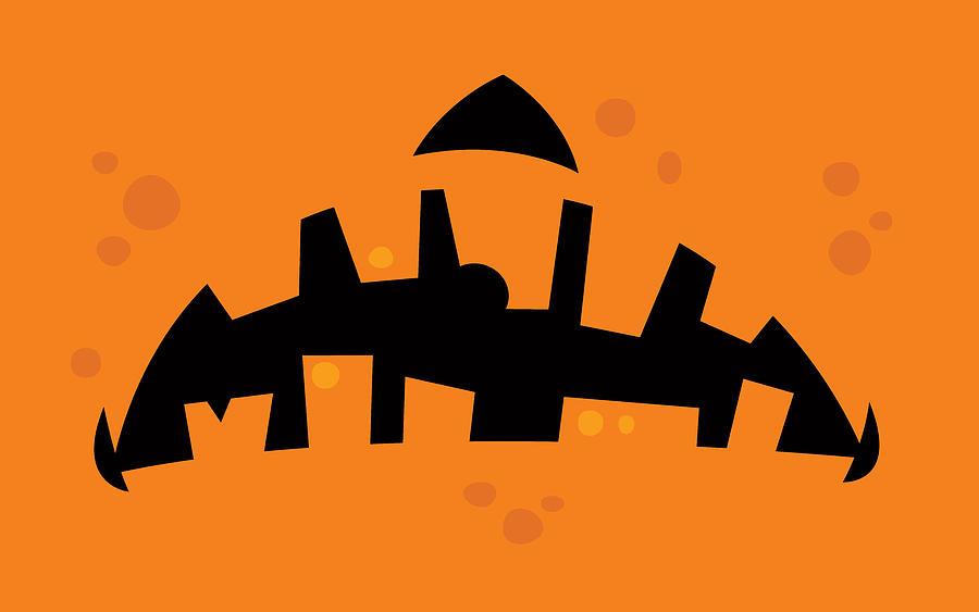Pumpkin Zombie Mouth Digital Art