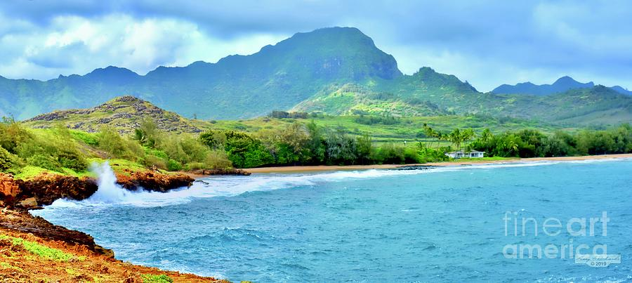 Punahoa Point and Gillins Beach Pano by Gary F Richards