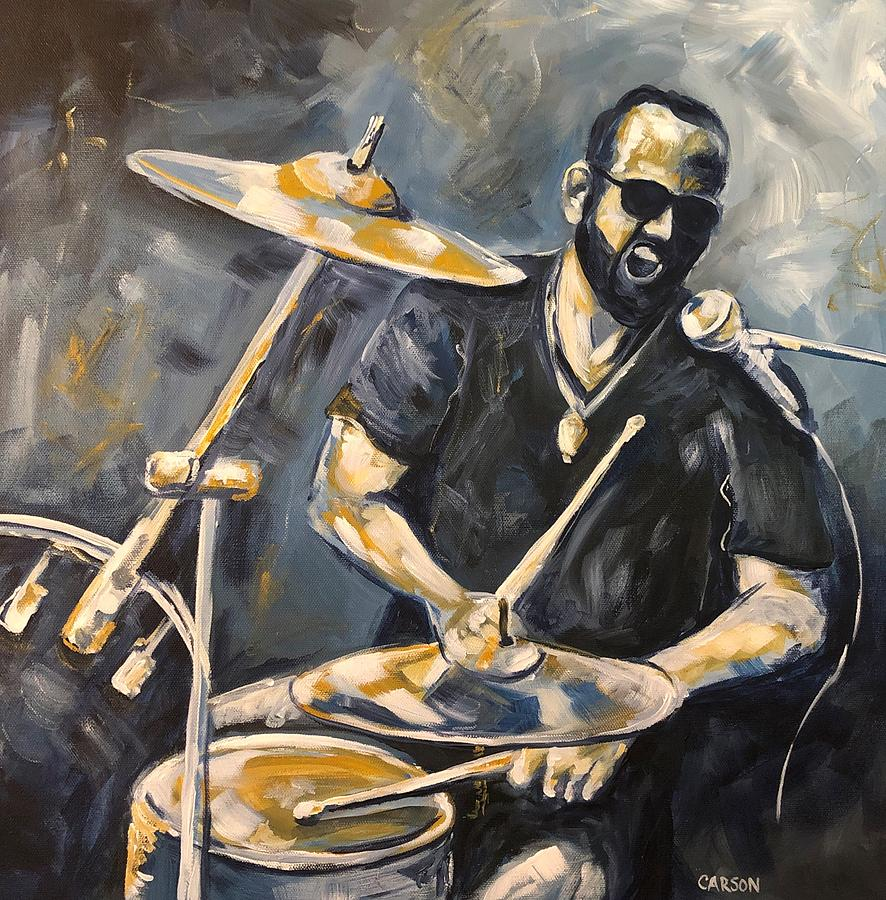 Drummer Painting - Pure Energy by Susan Carson