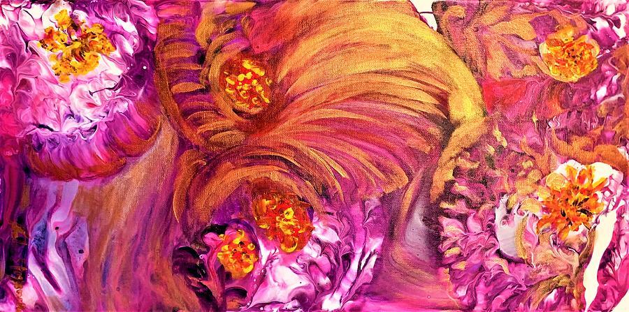 Purple Burst Painting