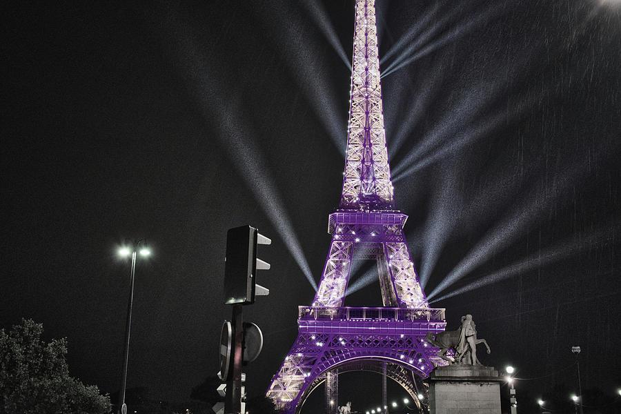 Purple Eiffel by Portia Olaughlin