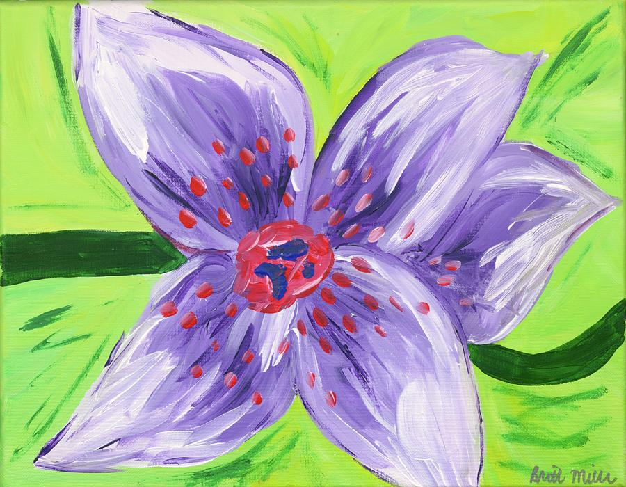Purple Painting - Purple Flower by Britt Miller