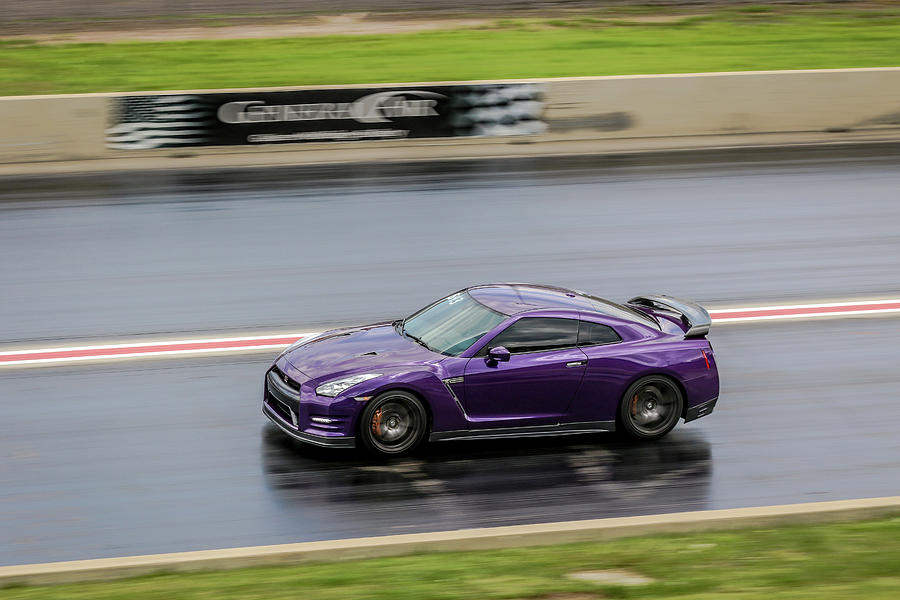 Super Car Photograph - Purple GT-R by Kamie Stephen