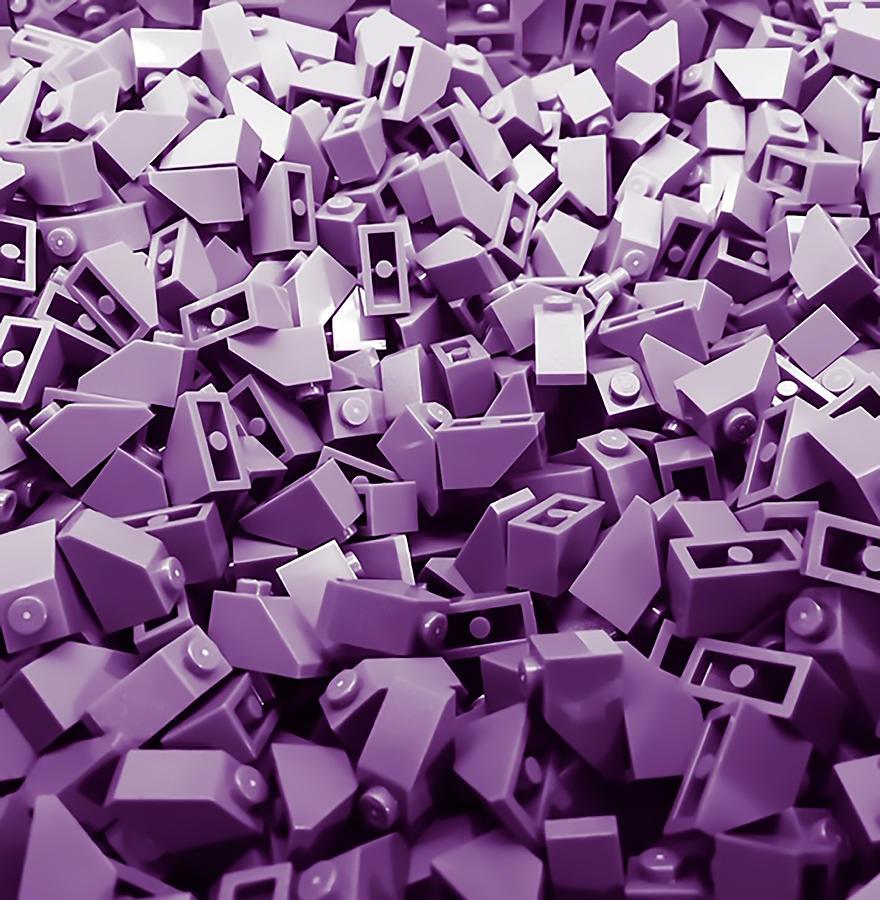 Blocks Photograph - Purple Building Blocks by Jeremy Edsall