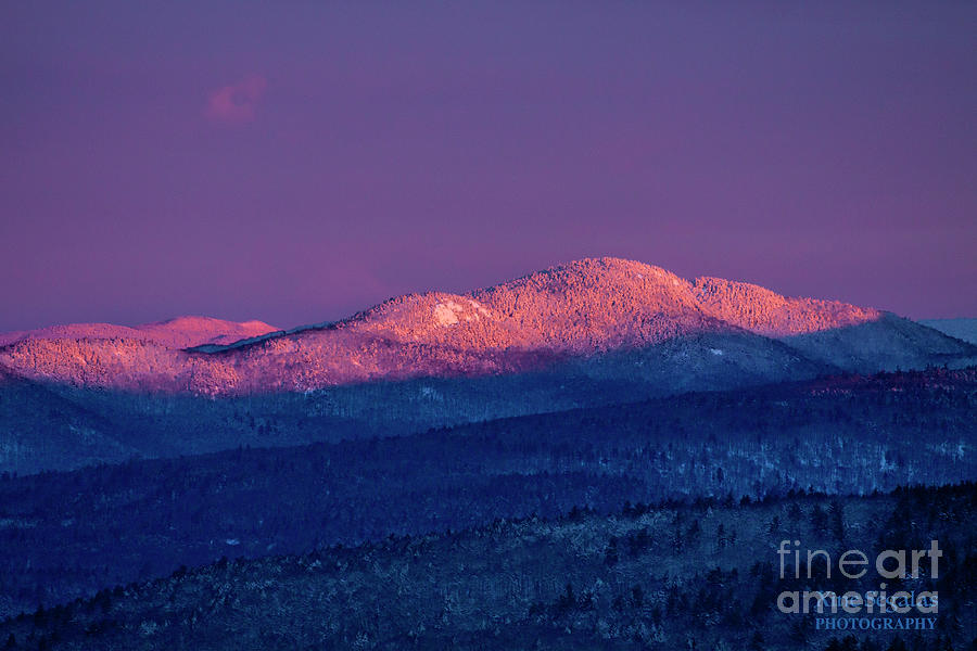 Purple Photograph - Purple Mountains Majesty - Mount Crosby,Bald Knob by Christine Segalas