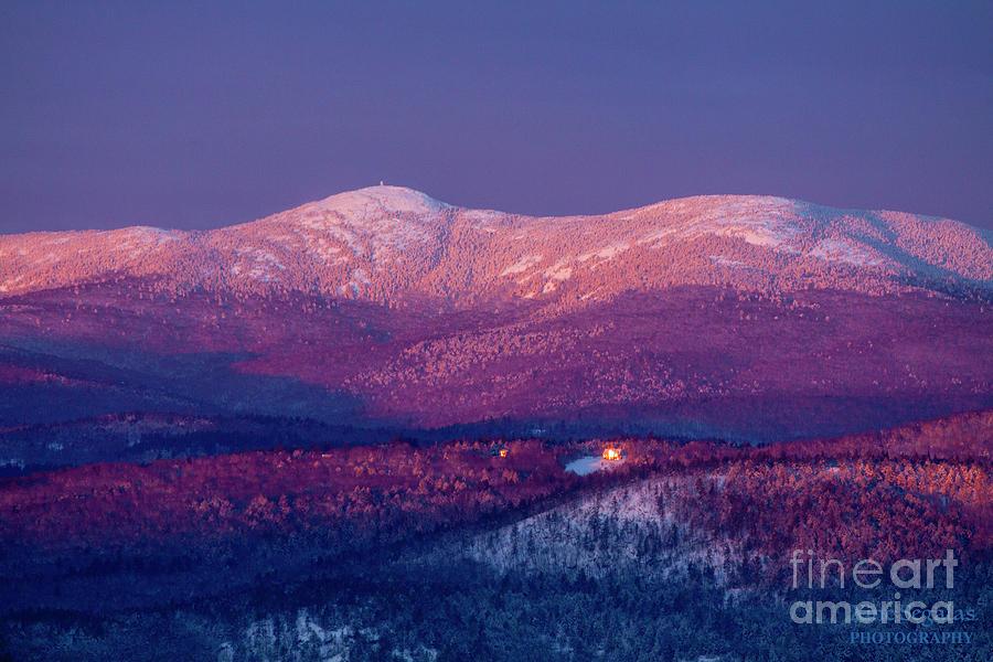Sunrise Photograph - Purple Mountain Majesty - Cardigan by Christine Segalas