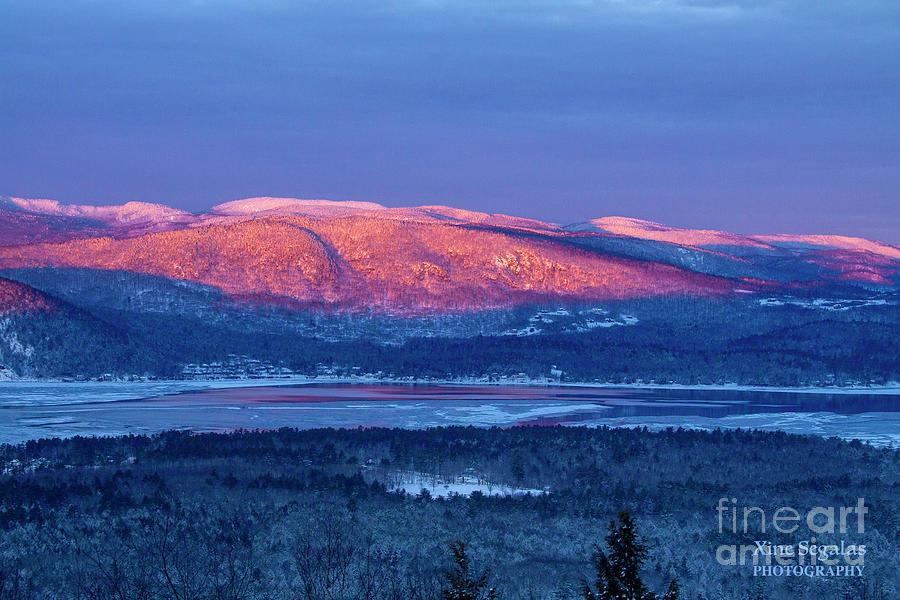 Sunrise Photograph - Purple Mountains Majesty - Bear, Mowglis, Oregon by Christine Segalas