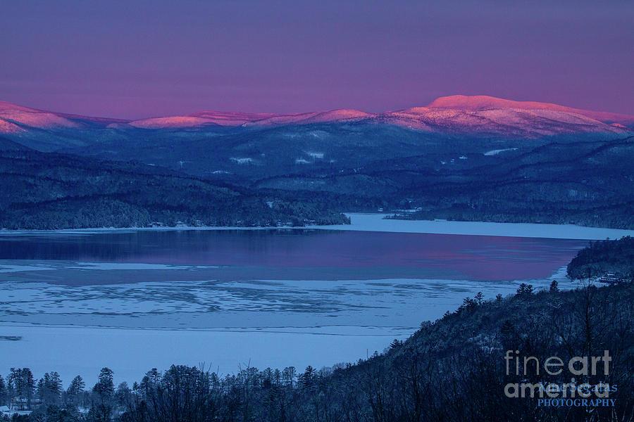 Sunrise Photograph - Purple Mountains Majesty - Smarts Mountain, Jewell Hill by Christine Segalas