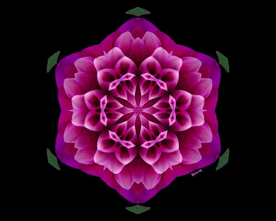Mum Digital Art - Purple Mum by Bonnie Vent