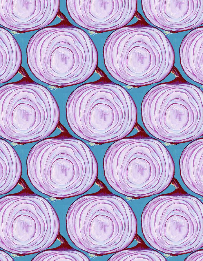 Purple Onion Pattern Digital Art