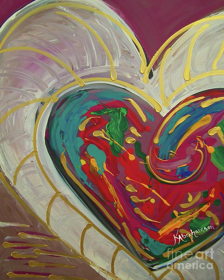 Purple Passion Heart by Kristen Abrahamson
