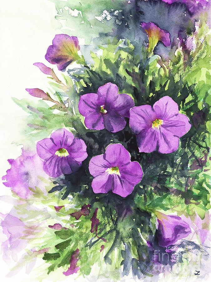 Purple Petunias Painting