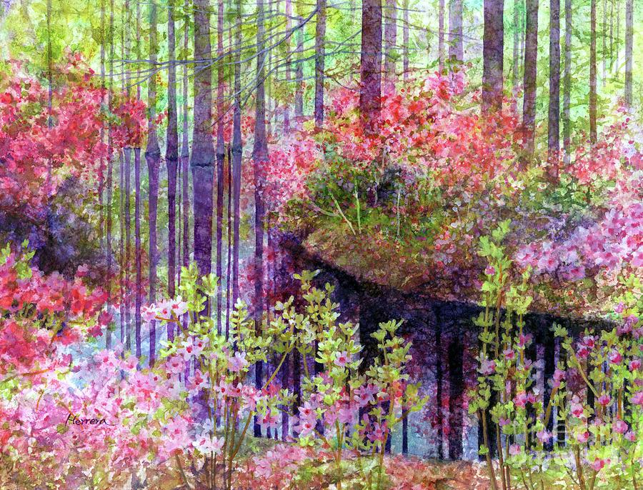 Purple Reflection-pastel Colors Painting