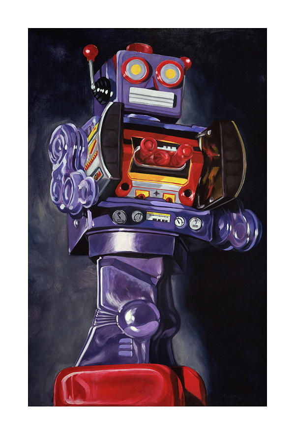 Robot Painting - Purple Robot 2 by Joe Borri