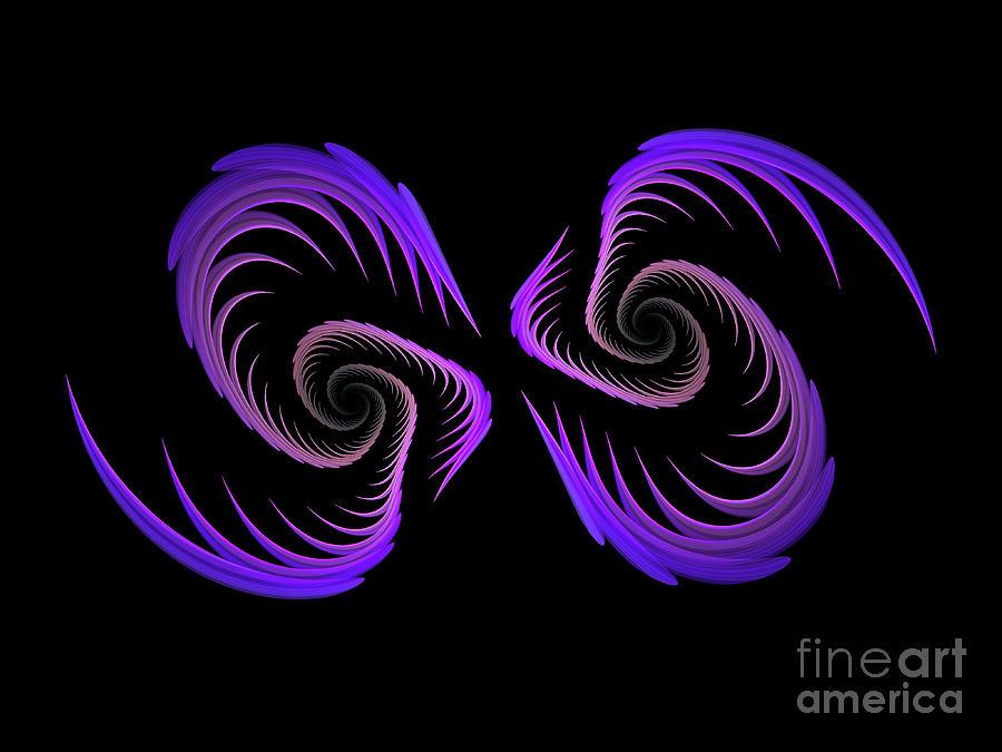Purple Wings Digital Art