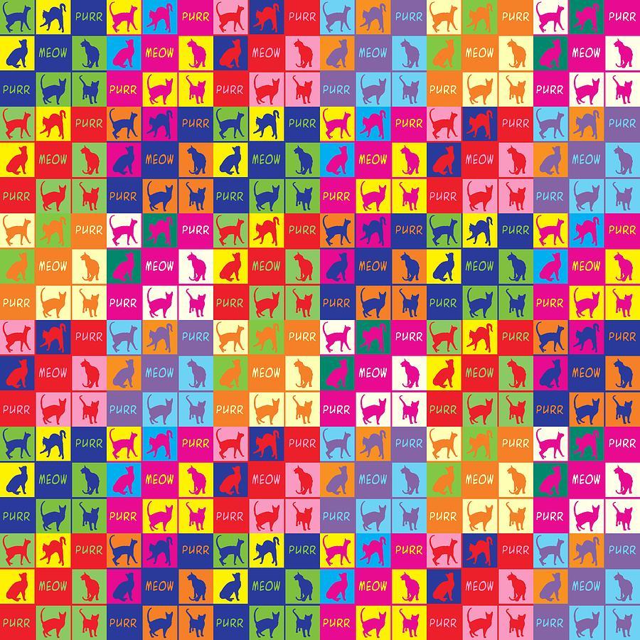 Purr Meow Collage Digital Art