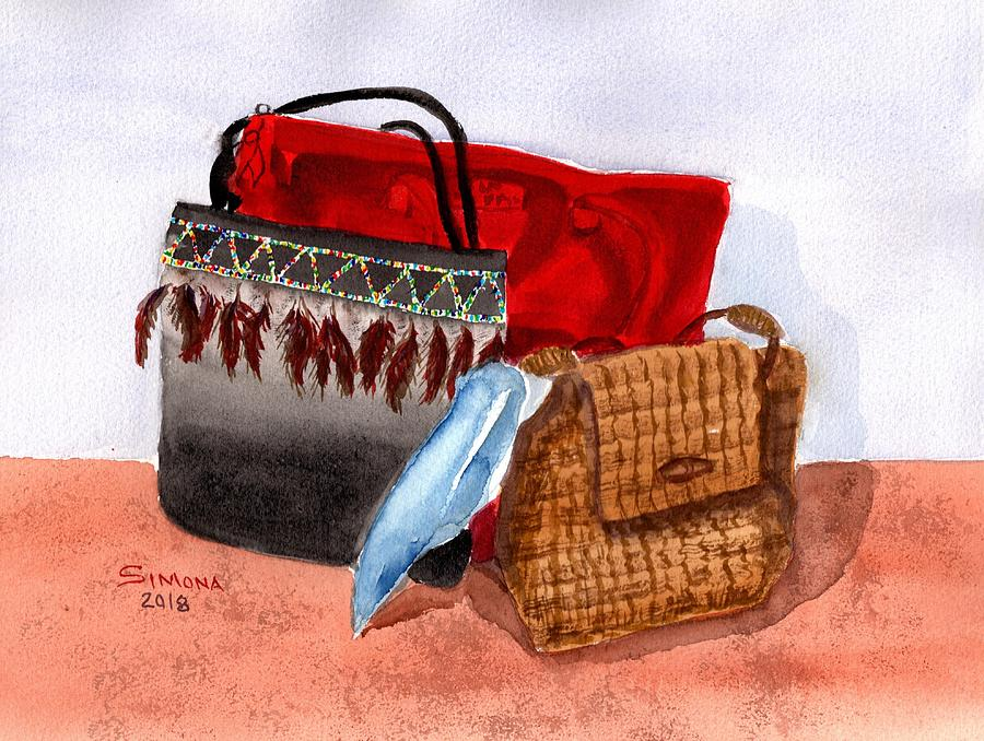 Purse Painting - Purse Collection by Simona Hernandez