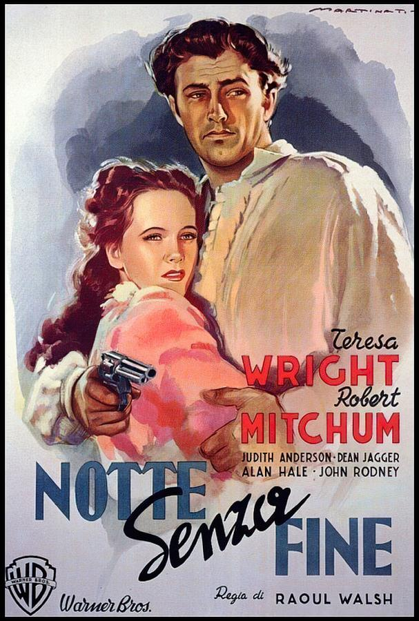 Pursued Mixed Media - Pursued, with Robert Mitchum, 1947 by Stars on Art