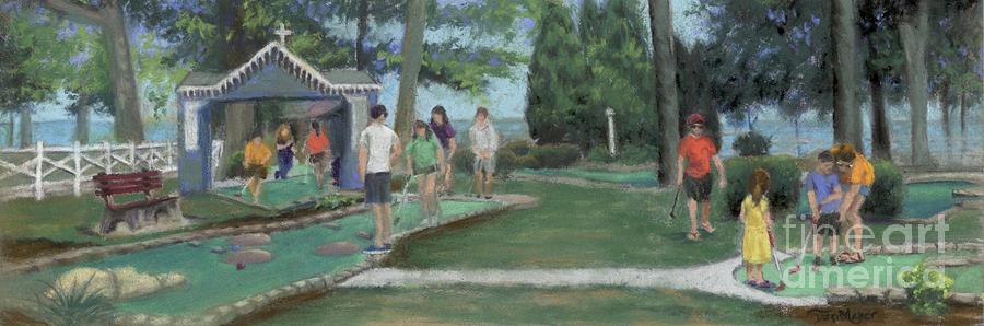 Put-Put at Lakeside, Ohio Painting by Terri  Meyer