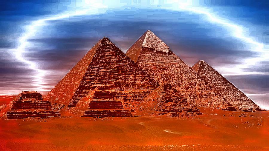 Pyramids Electric Digital Art