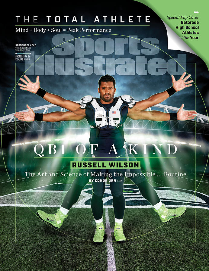 QB One of a Kind Russell Wilson Sports Illustrated Cover Photograph by Sports Illustrated