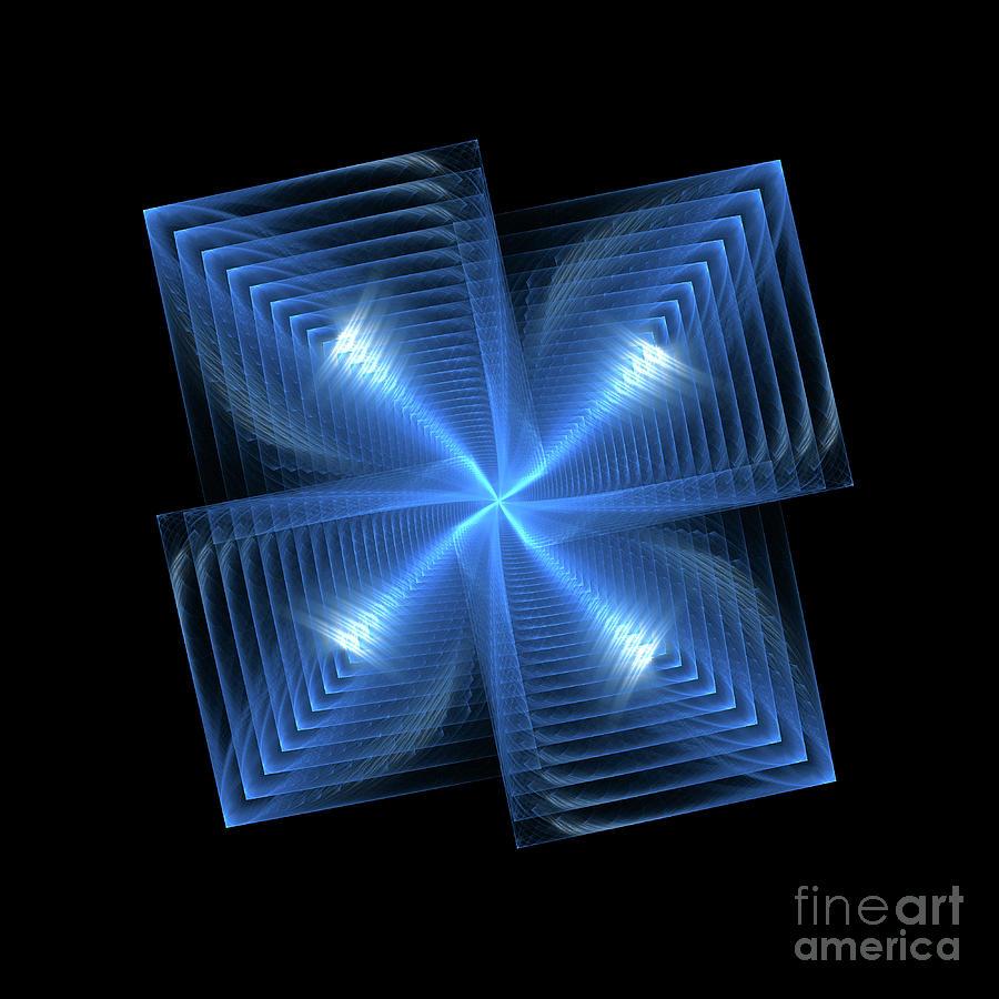 Quads In Blue Digital Art