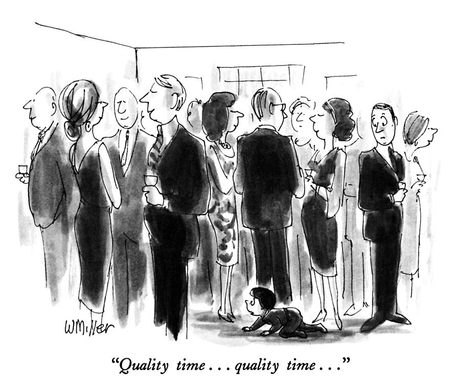 Quality Time Drawing by Warren Miller