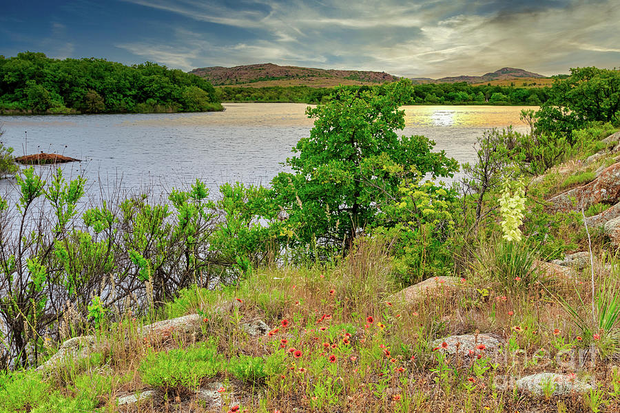 Quannah Parker Lake In The Wichita Mountains Of Sw Oklahoma Photograph