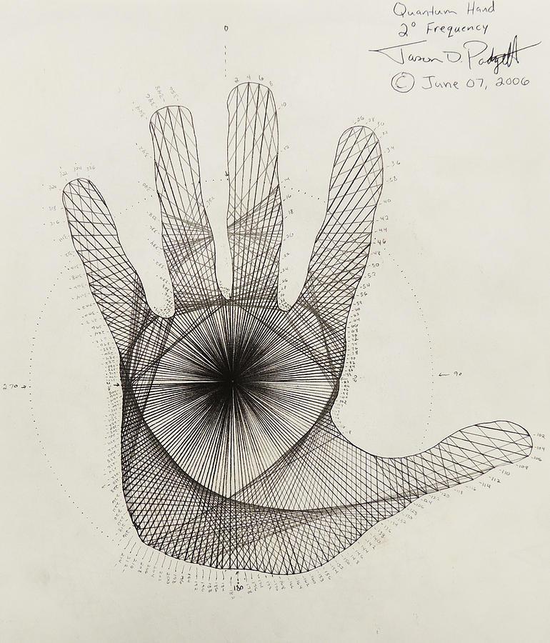 Quantum Drawing - Quantum Hand by Jason Padgett