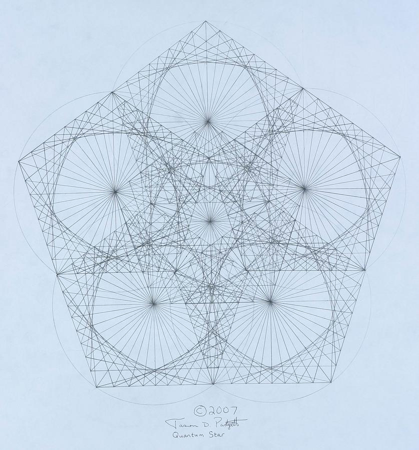 Star Drawing - Quantum Star high res. by Jason Padgett