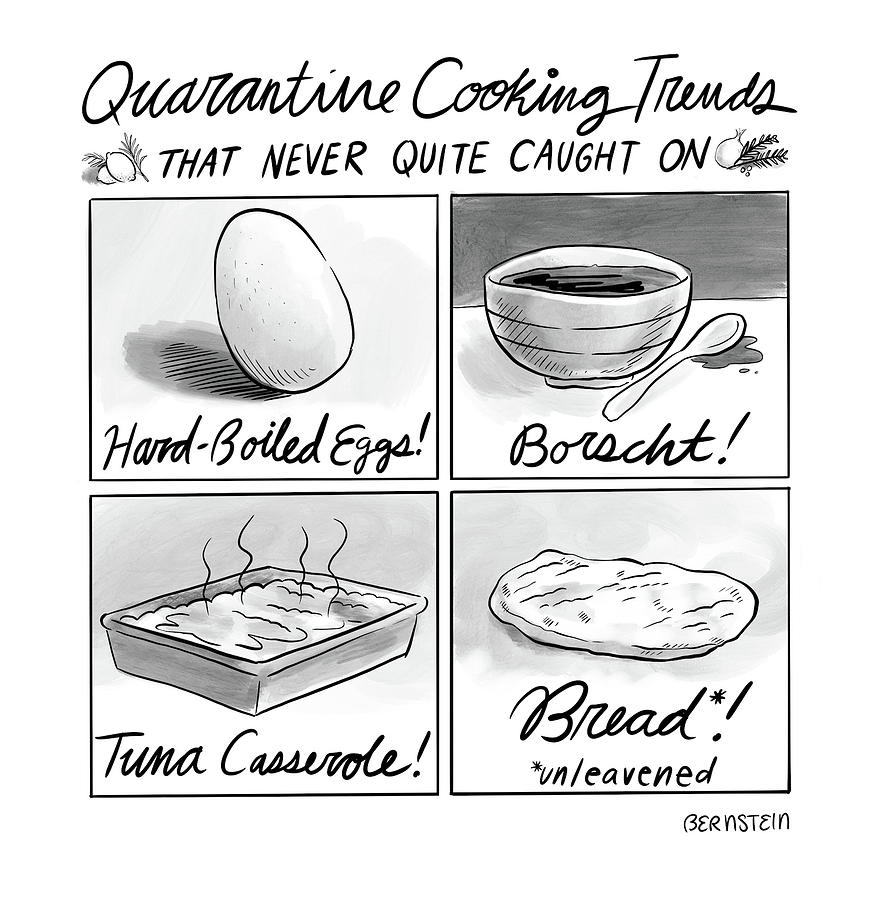 Quarantine Cooking Trends Drawing by Emily Bernstein