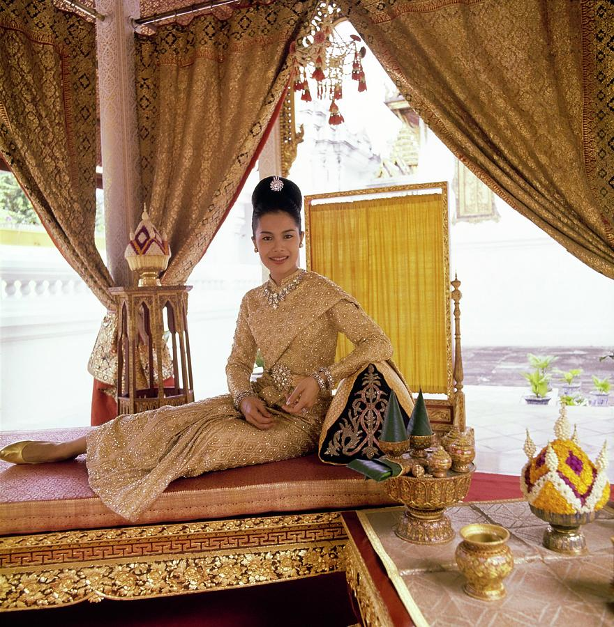 Queen Sikrit of Thailand in the Coronation Pavilion Photograph by Henry Clarke