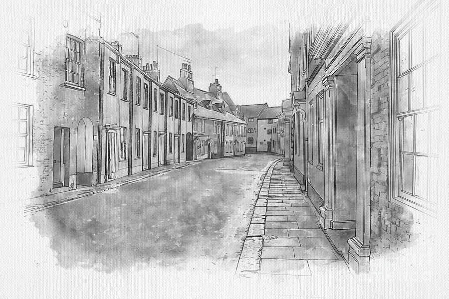 Queen Street, Kings Lynn Painting
