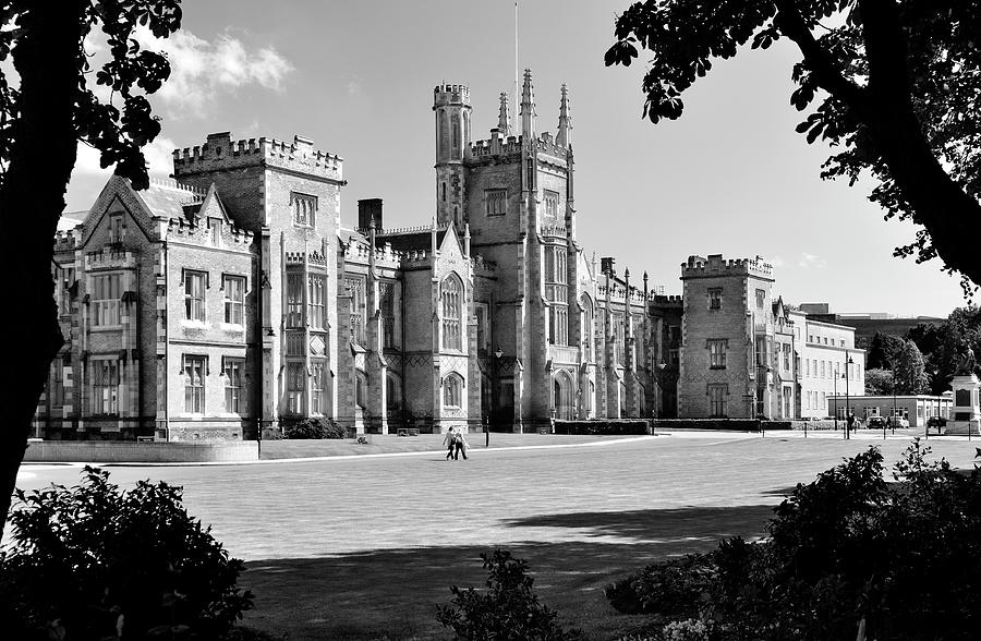 Queens University. Belfast, Northern Ireland. The Gothic Facade Of The Lanyon Building Photograph