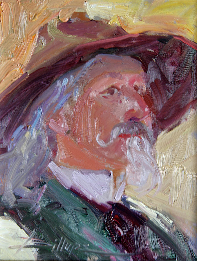 Mountain Men Painting - Quick Draw by Betty Jean Billups