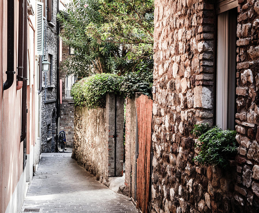 Quiet Street In Sirmione, Italy Photograph