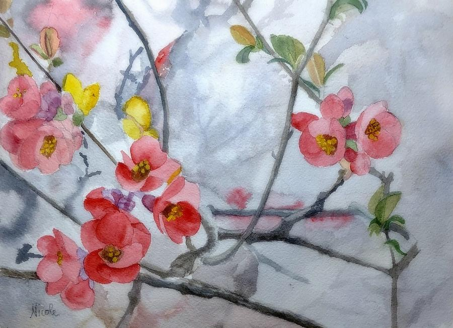 Quince Branch Painting